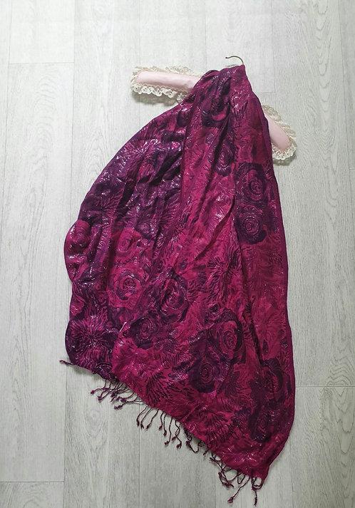 Cerise/plum mix scarf