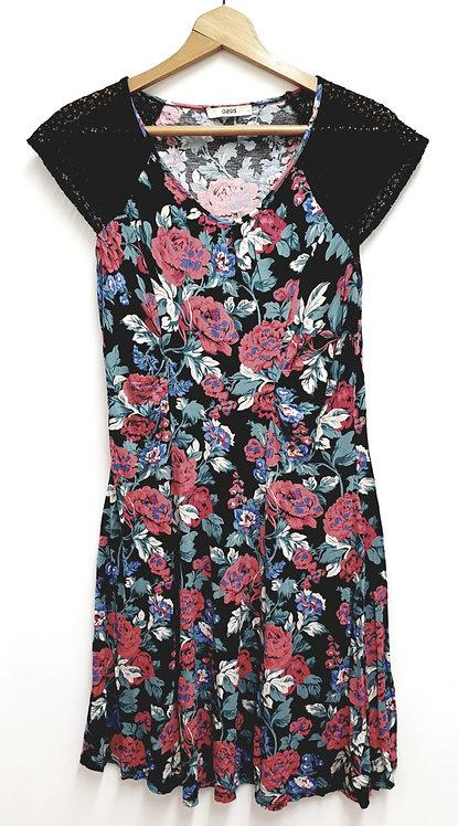 Oasis floral dress.  Size L