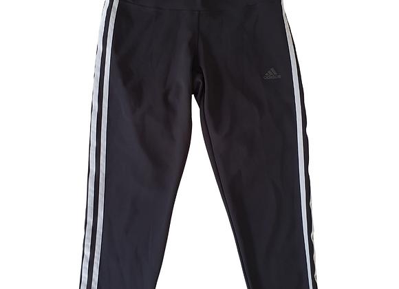 Adidas black crop sports leggings. Uk 12-14