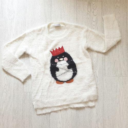 💚Matalan Christmas fluffy jumper with flashing lights. 9yrs