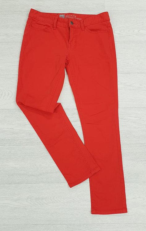 Premium denim orange/red skinny jeans