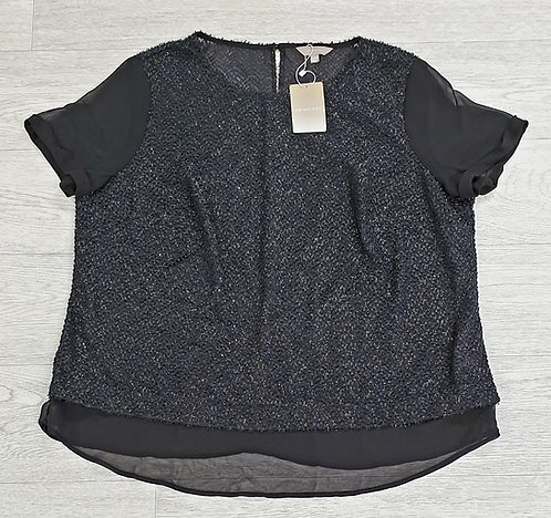 ■Anthology black sparkly top. Size 20 NWT