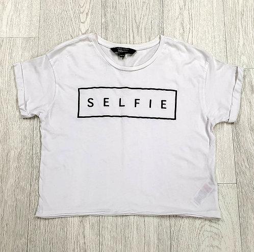 New Look white Selfie crop top. 14-15yrs