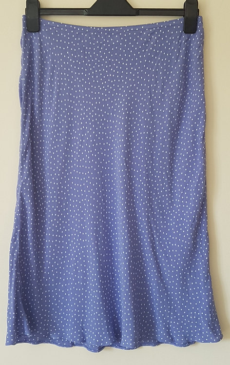 BHS. Purple pulka dot skirt with elastic waist. Size 14.