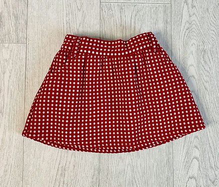 🌞Mothercare red spotty skirt. 1½-2yrs