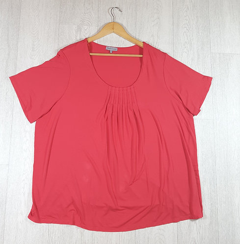 🚩Rogers and Rogers pink pleated t-shirt size 26
