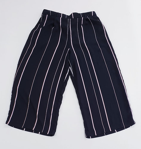 🌺New Look black striped wide leg trousers. Size 12
