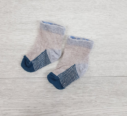💠Baby grey and turquoise socks size 3 / 6 months