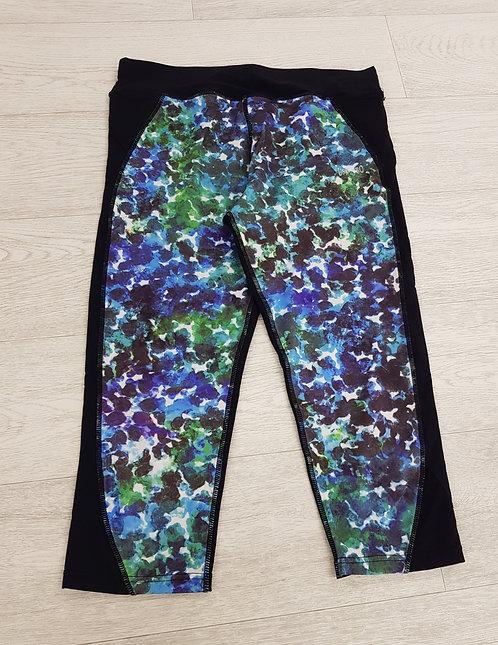 🦄USA PRO purple and green sports leggings ¾length size 12