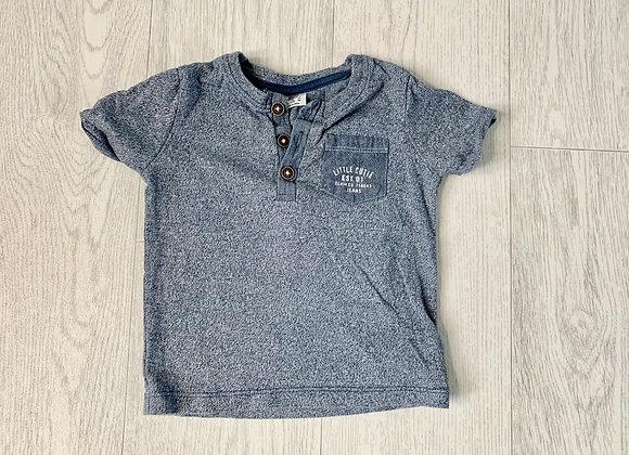 🐢F&F blue T-shirt. 6-9m