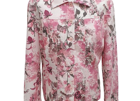 Cavita pink floral vintage jacket. Uk 16
