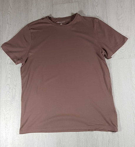 ◾New Look mens mink brown basic t-shirt. Size L