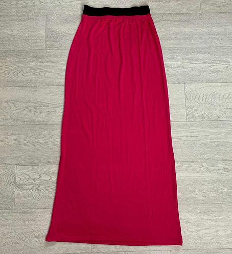 🌻QED London cerise pink maxi skirt size 8-10