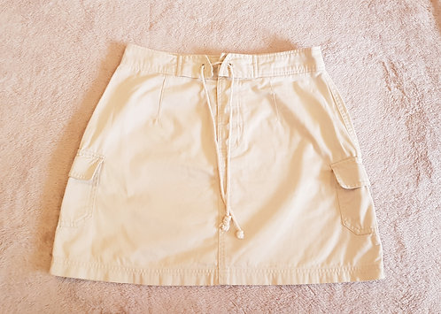 RUE 21.Beige combat mini skirt. Size 8.