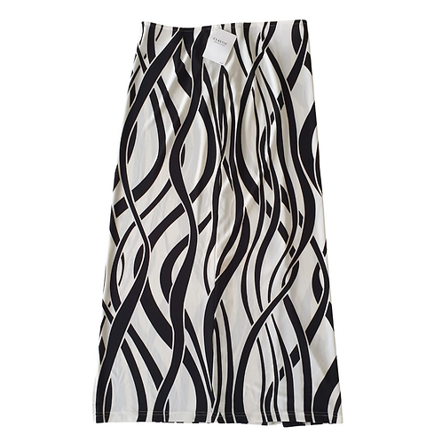 Betty Barclay black & white print skirt. Uk 16 NWT