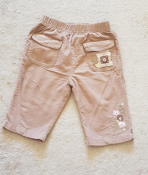 CHEROKEE Brown chord trousers. 3-6m