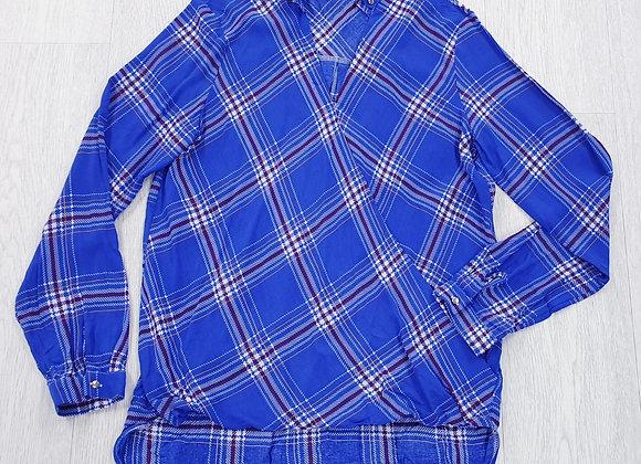 Benim blue wrap front shirt. Uk 10
