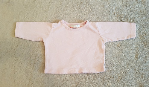 Early days pink heart print top. 0-3m