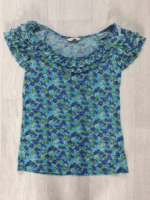 Bhs turquoise floral top. Size 8 petite