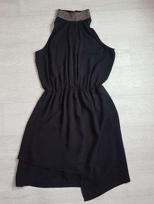 Next halter neck black dress with beaded collar. Size 10
