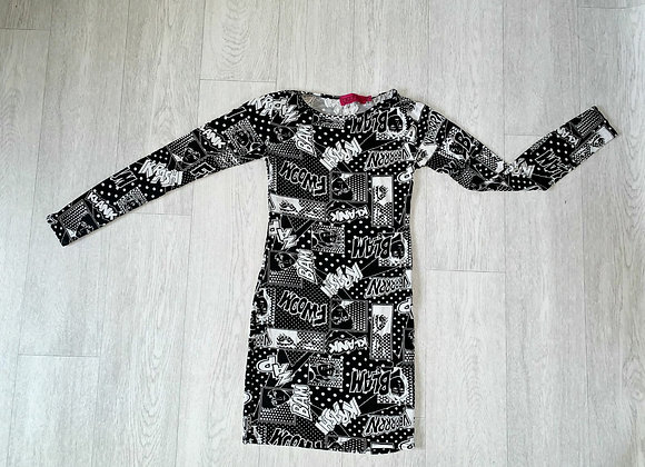 🦊BooHoo comic pencil dress. Size 6