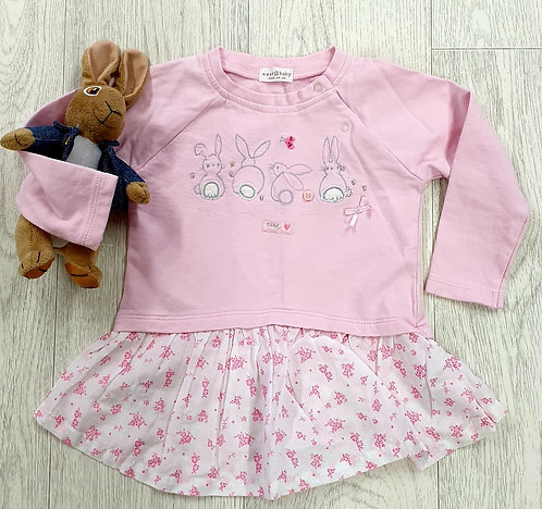 Next pink bunny sweater. 9-12m