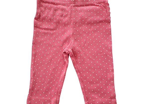 M&S pink dotty leggings. 3-6m