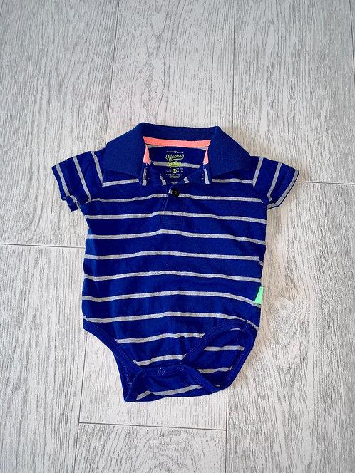 🌗Offcorss blue polo vest. 3-6m