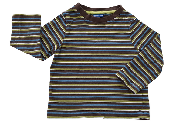 Cherokee striped top. 12-18m