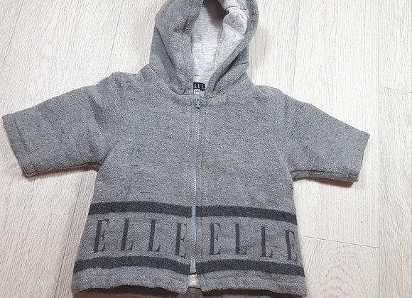 🌈Elle grey fleece jacket size 6m
