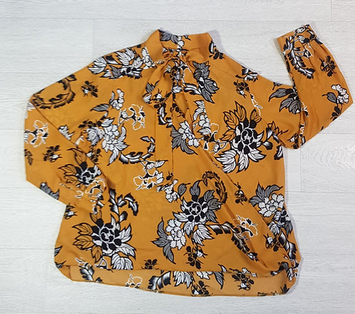 George Yellow tie neck blouse. Size 18