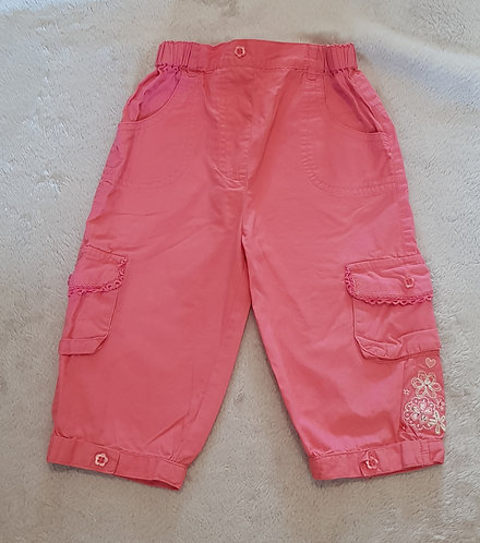 GEORGE Pink combat trousers.9-12m KEEP AWAY FROM FIRE