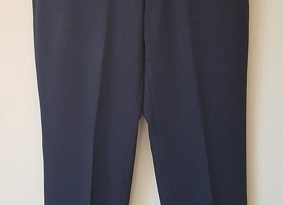 BHS. Navy suit trousers. Size 34L. Waist 86cm.