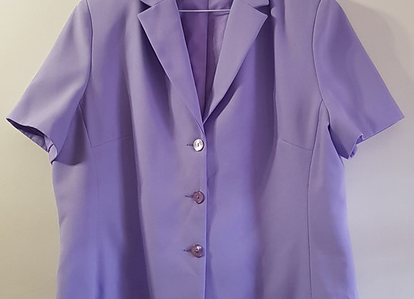 Dorothy Perkins. Purple blazer with padded shoulders. Size 20.