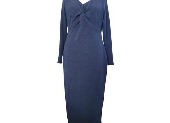 Bravissimo navy stretch fit knot front knit dress. Uk 16 Really Curvy