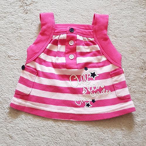 Baby. Pink striped summer top. 0-3 months.