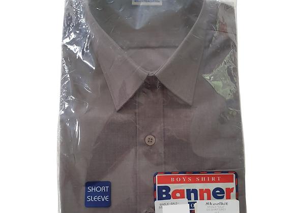Banner short sleeved grey shirt. NWT