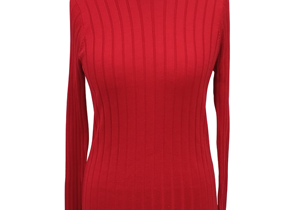 Betty Barclay red knit sweater. Size XL