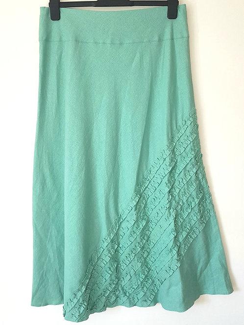 M&S. Aqua skirt. Elastic waist. Size 14.