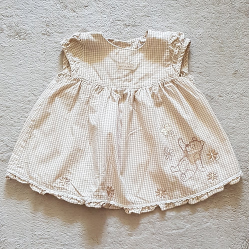 Disney at Tu. Gingham dress with Winnie The Pooh detail. 0-3 months.