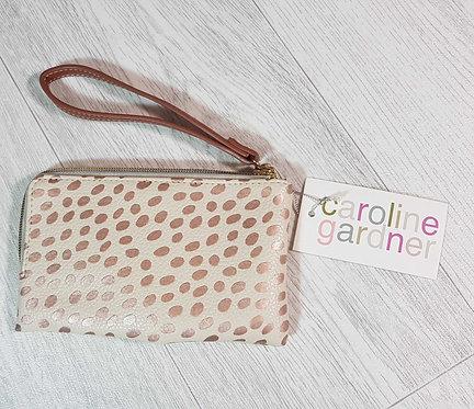 ◾Caroline Garner zip purse with wrist strap NWT