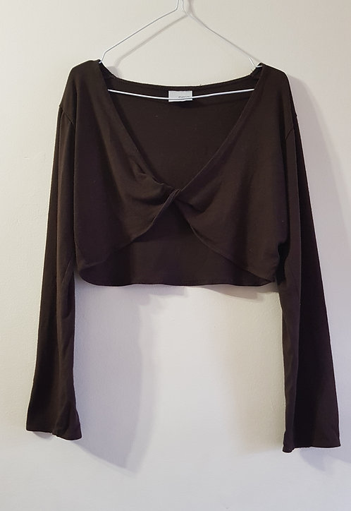 Next. Brown cropped cardigan top. Age 11yrs.