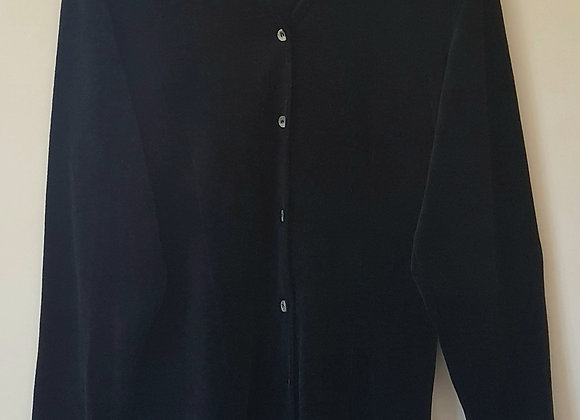 Enrico Coveri. Black velor shirt. Size 12.