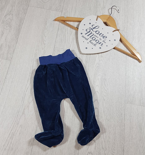 🐠 blue velour trousers size 3-6 months