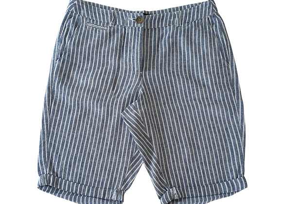 Dorothy Perkins blue striped linen shorts. Uk 10