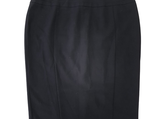 Evans Black pencil skirt with one slit at back. Uk 20
