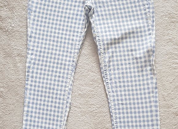 DENIM CO Blue and white check skinny jeans size 8