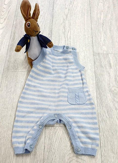 🧸 Mothercare blue/white romper suit. Tiny baby