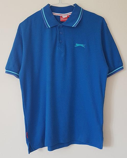 SLAZENGER. Blue polo shirt. Size S.