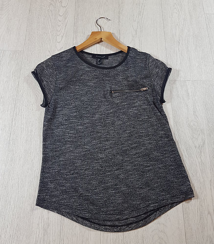🦄Atmosphere grey T-shirt with zip size 8